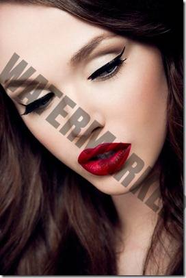 bright-red-lips