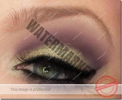 green eyes makeup 80