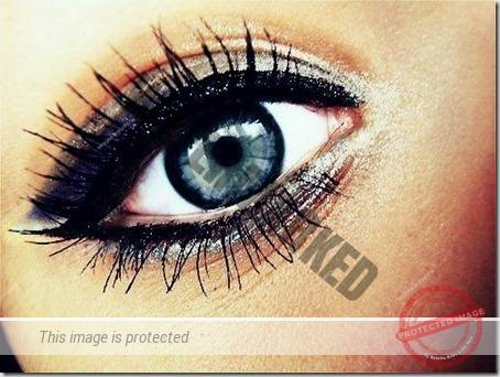 blue eyes makeup 80