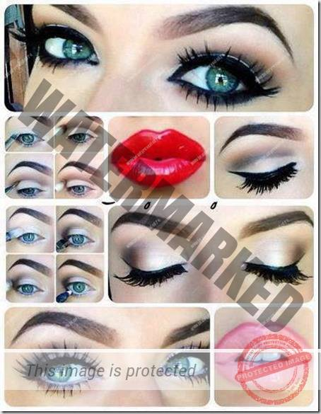 blue eyes makeup 929