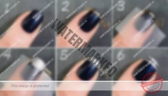Рисунок на ногти из ленты