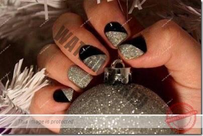 modele-unghii-negre-cu-argintiu-