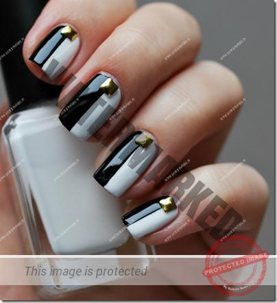 unghii-negre-cu-alb-1