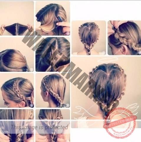 Плетение волос пошаговый с
