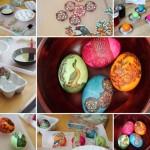 15 Idei originale pentru vopsirea oualor de Pasti