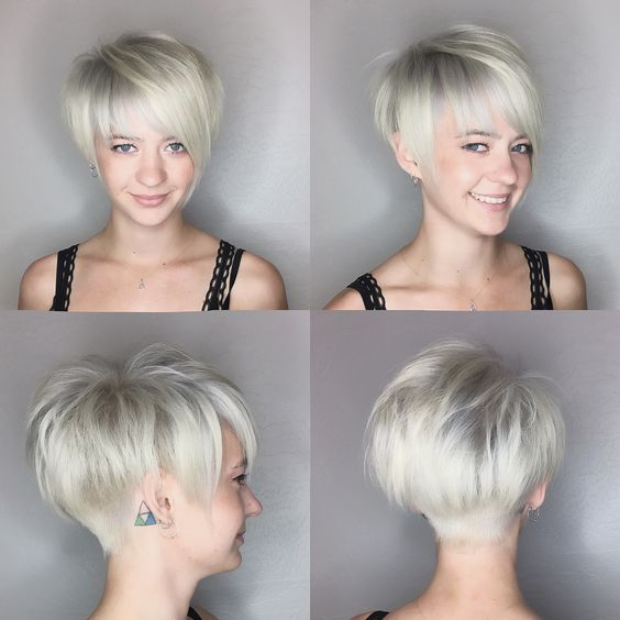 Tunsoare bob scurt blond